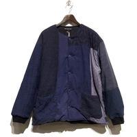 "TigreBrocante""lotus batting short rib jacket""(lt.navy)unisex(L) size"