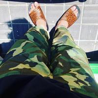 "TigreBrocante""cotton×nylon camoflage Tagosaku Pants""(khaki)unisex"