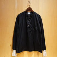 "H.UNIT ""broad cloth sleeping rib shirts"" (black) unisex"