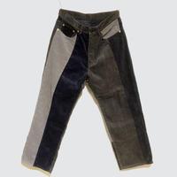 "TigreBrocante""mix corduroy 5pct pants""(navy)unisex"