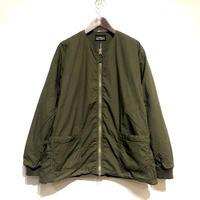 "TigreBrocante""cotton rip crewneck zip jacket""(khaki)unisex"