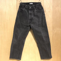 """KNIFEWING""""USA505 tuck tapered wide pants""""S-B(blk) unisex"""