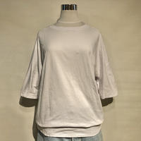 "SlowHands ""cotton relax tee""(ivory) womens"