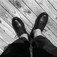 """All American Boots MFG.,INC """"OXFORD with Leather Storm""""(black) men's"""