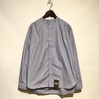 "ASEEDONCLOUD""Handwerker collarless  shirts"" (blue stripe) unisex"