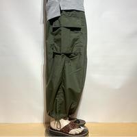 "TigreBrocante""nylon tusser cargo pants""(khaki)unisex"