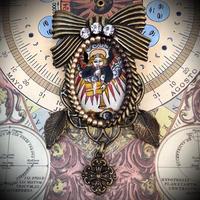 KARANSA/カランサ 中世タロットオリジナルガラスカボションブローチ「審判」復活のきっかけをつかむ KB-4