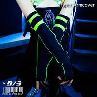 D/3/ディースリー ハイパーアームカバー Hyper Armcover 黒×蛍光黄緑