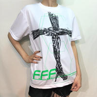 D/3/ディースリー  FETI-FES × D/3 サイバーネクロTシャツ (白ver2.0)