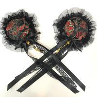 estrelleas/エストレージャス 双飾髪飾りD02 黒