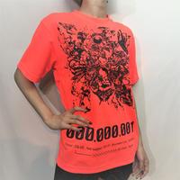 D/3/ディースリー  Mechanism+ T-shirts(メカニズムプラス Tシャツ) NEON ORANGE×BLACK(蛍光オレンジ×黒)