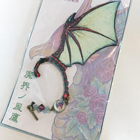 魔界ノ風鷹/マカイノカゼタカ イラスト翼のイヤーフック 翠竜 K36