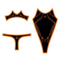 PredatorRat×D/3 「サイバーボディースーツ type P.R- X X」 黒×オレンジ