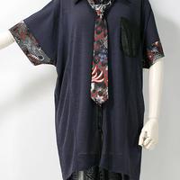 QUTIE FRASH/キューティーフラッシュ ネクタイ付きBIGシャツ 7557-SBL