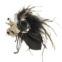 corgi-corgi 花と羽根のコサージュ COA-10