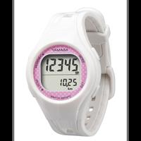 ウォッチ万歩計 腕時計タイプ ホワイト/ピンク TM-400W/P