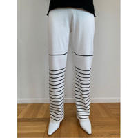 BORDER KNIT PANTS