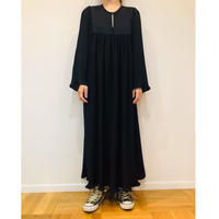 PLEAT LONG DRESS