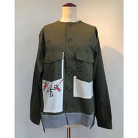 MILITALY SWEAT SHIRT JACKET