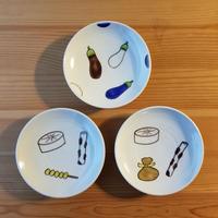 九谷焼 豆皿 おでん2種・なす・いちょう