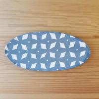楕円小皿 水色