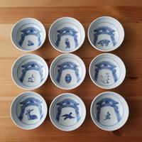 神社の動物小皿 9柄