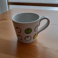 九谷焼 マグカップ 白りんご・パン・フライパン・リボン・蝶々