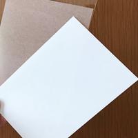 はんこ素材:プラバン2枚セット(白、半透明)