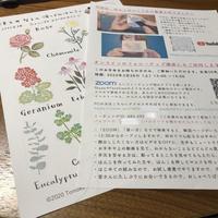 ダウンロード版/津久井智子の消しゴムはんこ。オンライン教室:3月の教材「花とハーブのはんこマスク」