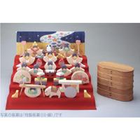 銀杏びな五段飾り 特製垂幕・桜 KH363
