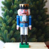 くるみ割り人形「王様(青/白)」フュヒトナー工房