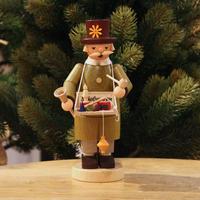 煙出し人形「お花帽子のおもちゃ屋さん」フィンダイセン工房