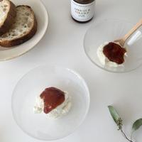 LBJアプリコット&ヴェルジュースのジャムとリコッタチーズ