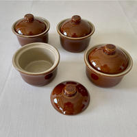 陶器製ココット Brown