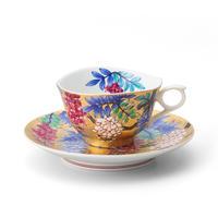 天童 金彩藤碗皿