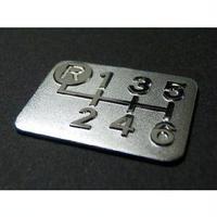 シフトパターン プレート 6速マニュアル車用 SPE-A601-g