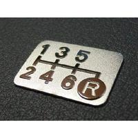 シフトパターン プレート 6速マニュアル車用 SPE-A602-g