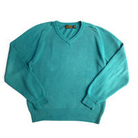 """90's   """"EddieBauer"""" v-neck cotton knit sweatr"""