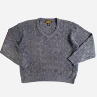 """90's """"Eddie Bauer"""" v-neck cotton knit sweater"""
