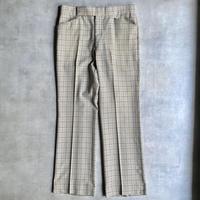"〜70's ""DAKS"" boots cut  check slacks"
