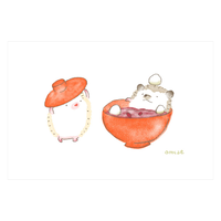 『ハリネズミのふーくん』OSHIRUKOポストカード