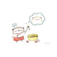 『ハリネズミのふーくん』VALENTINEポストカード