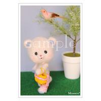 #99 くまホワイト ポストカード Minamin