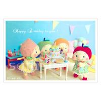 フルリちゃん-Happy Birthday to you ! ポストカード Minamin