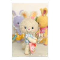 #95 うさぎベージュ ポストカード Minamin