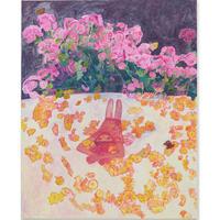工藤  麻紀子 Makiko Kudo  /  花がらのふとん  Floral patterned futon