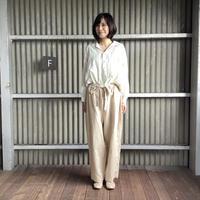 【 artea-2020spring01  】コットン/テンセル ワイドライプオープンシャツ