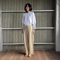 【 artea-2020spring27  】ザグリネンキャンバス tieパンツ