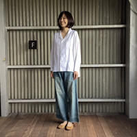 【 artea-2020spring40  】リネン/テンセル ワイドライプオープンシャツ