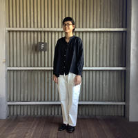 【 artea-2020spring80  】LINEN染め ギャザーリングシャツ